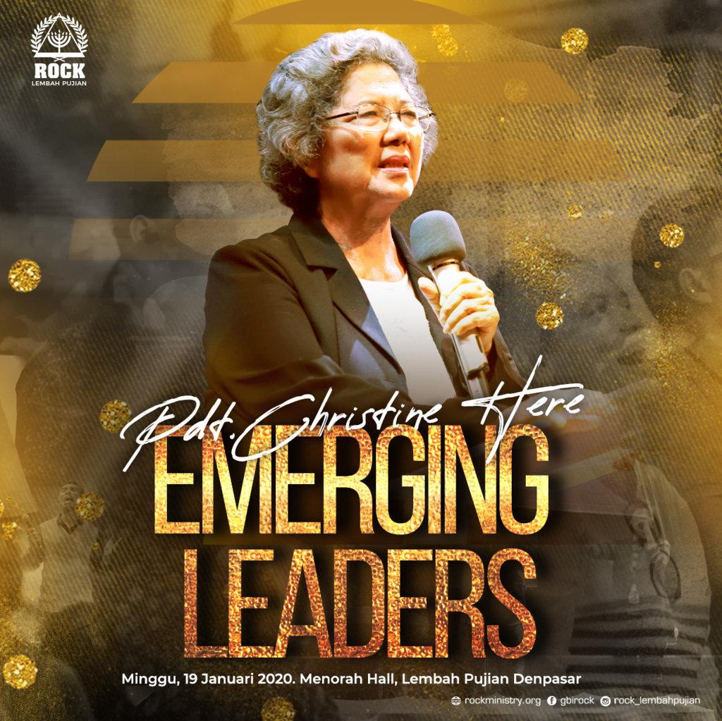 EMERGING LEADERS | Pdt. Christine Here